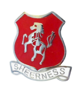 Sheerness Isle of Sheppey Town Crest Pin Badge