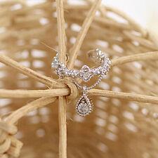 1Pcs Fashion Women Ear Cuff Wrap Rhinestone Crystal Clip On Earring Jewelry