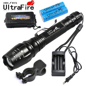 12000LM Taktisch Polize Swat 5 Modi XML T6 LED Taschenlampe Zoom 18650 Batterien