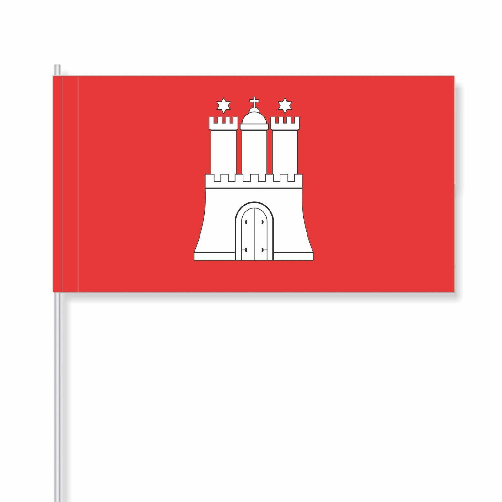 Papierfähnchen Papierfahnen Hamburg  (Landesflagge) - PFL-DEHH