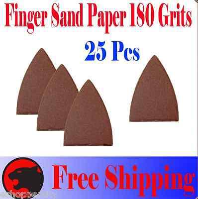 Pack 25 Sandpaper Oscillating Multi Tool Fein 180 Grits Finger Sand Paper
