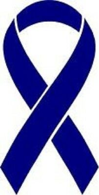 Blue Colon Cancer Ribbon Vinyl Decal Car Window Sticker Pick The Size Ebay