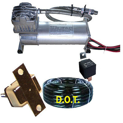 AirMaximum 380C Pewter 200psi Air Compressor For Air Bag Suspension Horn System
