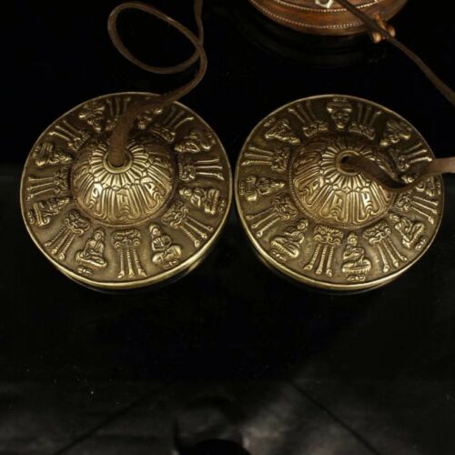 Chinese Antique Tibetan Buddhism old copper hand-made bells Instrument