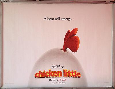 Cinema Poster Chicken Little 2005 Head Only Quad Patrick Stewart Adam West Ebay