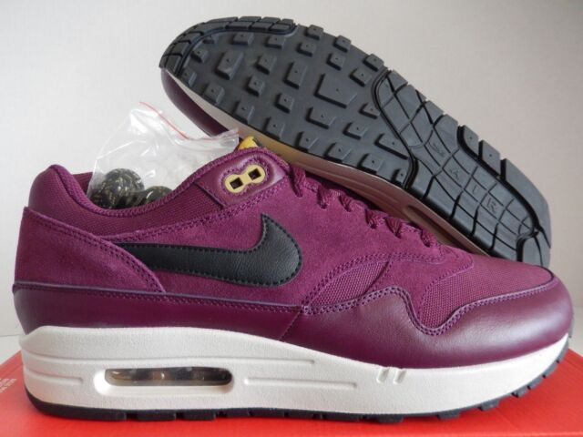 detailed look e33ce ef506 Nike Air Max 1 Premium Mens Size 10 Shoes Bordeaux Maroon Dessert 875844 601