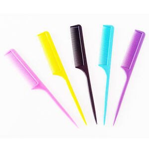 21cm Rat Tail Tint Hair Brush Plastic Styling Comb Hair