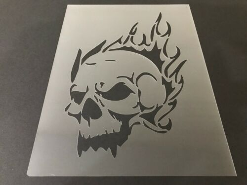 Tattoo Halloween Crafts Airbrush Skulls Skull #9 Stencil 10mm or 7mm Thick