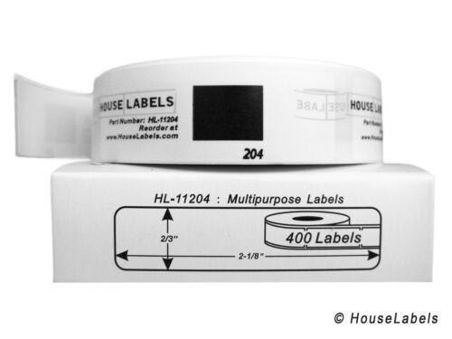 2 Réutilisable cadres 20 DK-1204 remplacement ROLLS compatible avec Brother