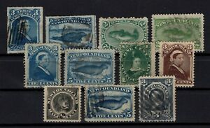 P131818-NEWFOUNDLAND-CANADIAN-PROVINCE-LOT-1865-1890-USED-CV-174