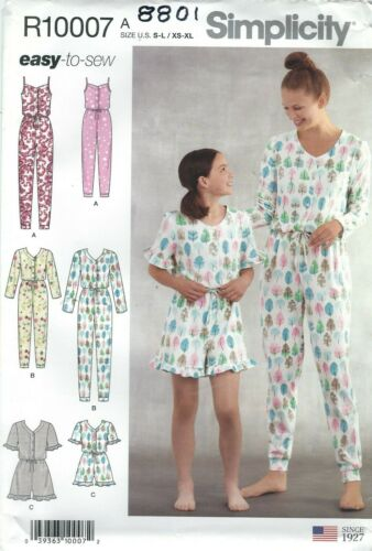 Simplicity  8801 Girls/' and Misses/' Jumpsuit and Romper  Sewing Pattern