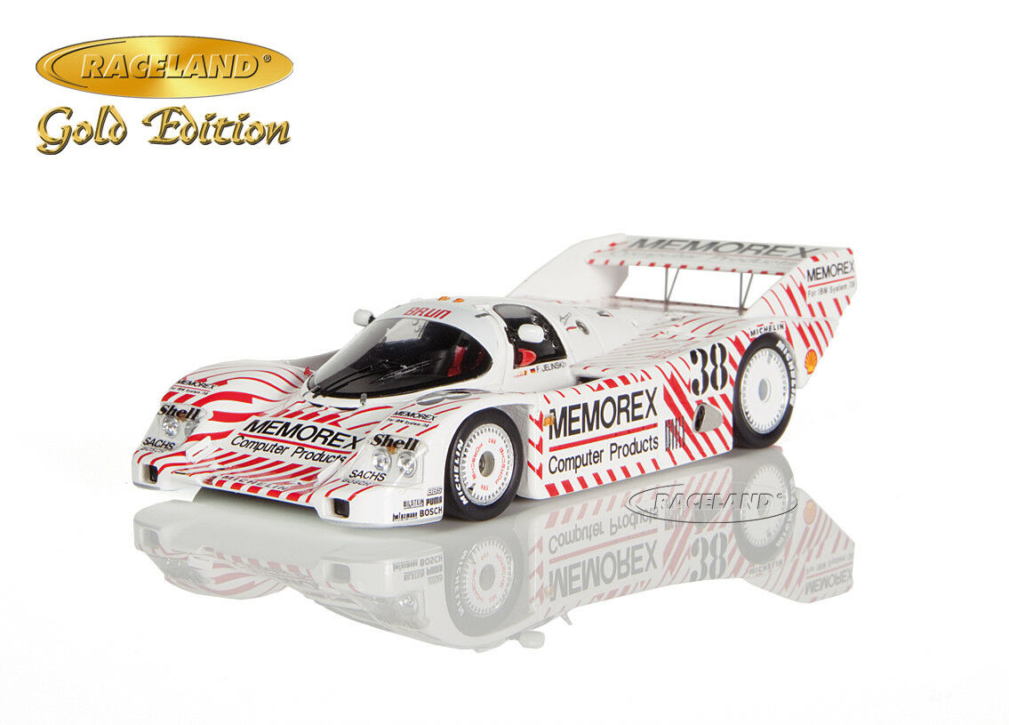 Porsche 962 C Memorex 4 ° Norisring coupe du monde 1986 Frank Jelinski, RACELAND Spark 1 43