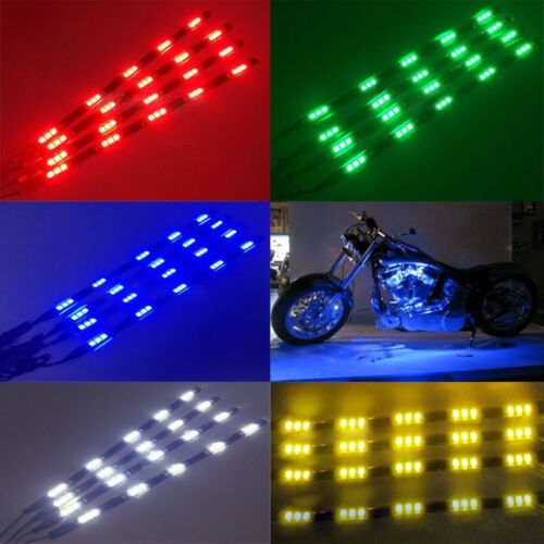 2//4//10//20Pcs 30CM 5050 12 LED Flexible Strip Light Waterproof Car Truck Boat 12V