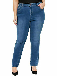 Womens-Ex-Evans-Blue-Denim-Pear-Fit-Jean-29-034-30-034-Straight-Leg-Ladies-Plus-Size