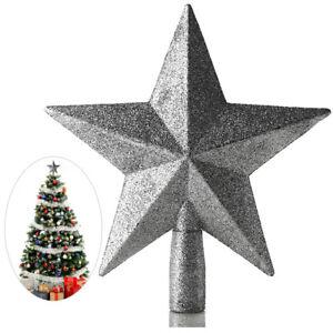 Stern Auf Weihnachtsbaum.Silber Glitter Weihnachtsbaum Stern Christbaumspitze Stern
