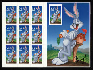 SCOTT 3138 1997 32 CENT BUGS BUNNY ISSUE MNH SHEET VF CAT $130!