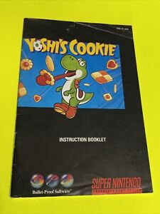 YOSHI'S COOKIE - Instruction Booklet Manual Original SNES SUPER NINTENDO