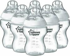 2 x Tommee TippeeBaby Bottle 260 mlClear Anti-Colic Valve Closer to Nature