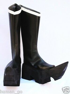 Black Rock Shooter Black Gold Saw Cosplay Boots Ladies Size US9/25cm