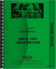 Oliver 1255 1265 1250a Tractor Service Repair Manual Moline G350 White 2 50