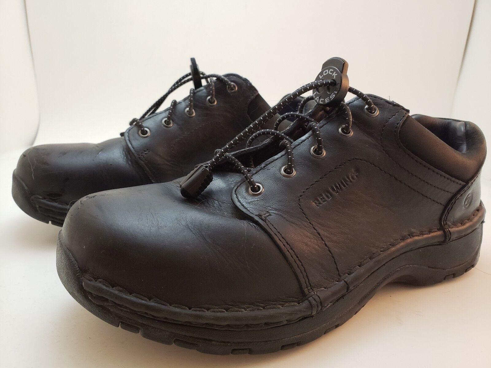 rojo Wing Oxford Zapatos para mujer Talla 8 Cuero Cuero Cuero Negro Puntera De Acero Antideslizante  1623  calidad auténtica