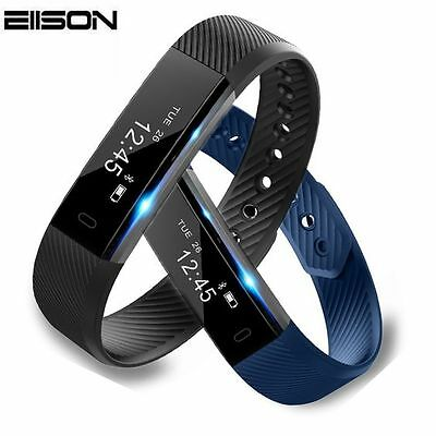 Smart Bracelet Fitness Tracker Step Counter Activity Monitor for iPhone Android