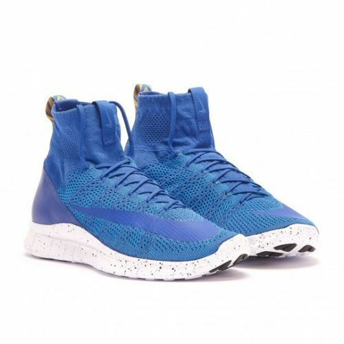 NIKE FLYKNIT MERCURIAL ROYAL BLUE GOLD WHITE /SAMPLE Price reduction Special limited time