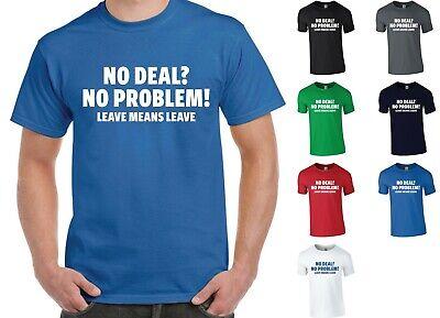 BREXIT MEANS BREXIT T-Shirt Britain British EU Exit Europe Leave Tee Top New