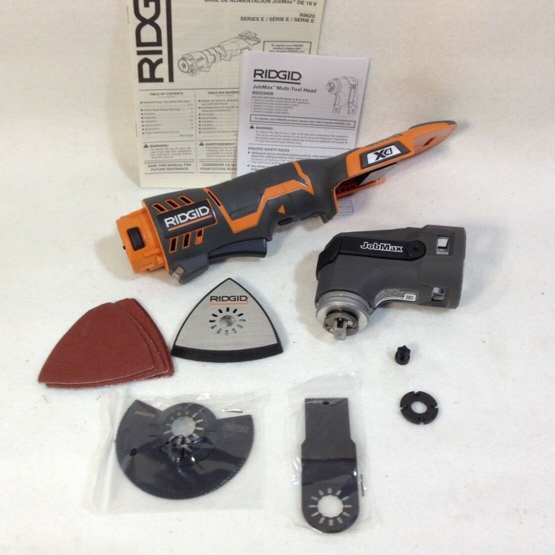 RIDGID R862005 - JOBMAX R8620 SERIES E 18-VOLT MULTI TOOL WITH R8223406 HEAD NEW