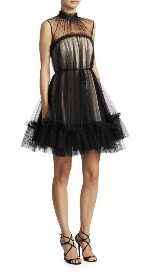 Zac Zac Posen Mesh A-Line Dress Regularly