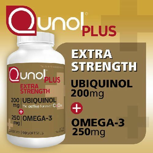 eee9eb303d7f Qunol Plus Ubiquinol 200 Mg. With Omega-3 90 for sale online