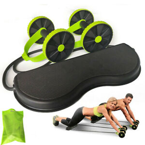AB-Wheels-Roller-Stretch-Elastic-Abdominal-Resistance-Pull-Rope-Tool-AB-roller