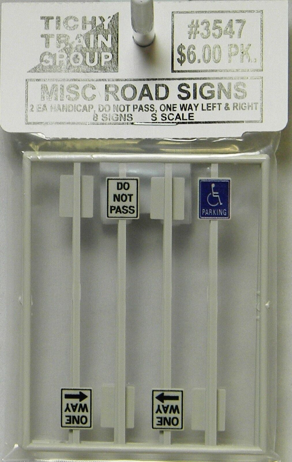 NIB S Tichy 3547 Miscellaneous Road Signs 8 Pcs