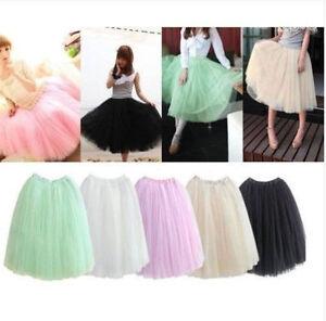 Fashion-Women-Dress-Bouffant-Skirt-Hot-Princess-Fairy-Style-5-layers-Tulle