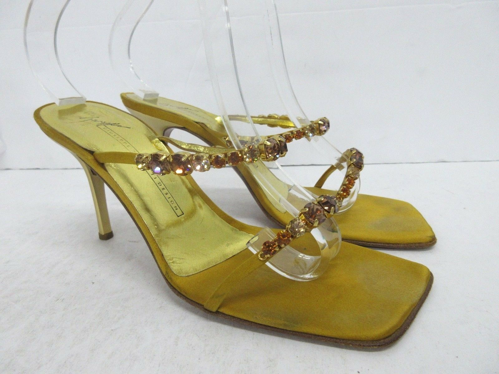 Giuseppe Zanotti Vintage Jeweled 2 Strap Stiletto Sandal in or or or Taille  8.5 US 663a3d