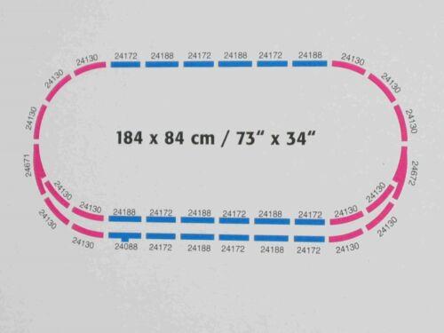 Märklin 34-tlg C-Gleisoval 184 x 84cm mit Ausweichgleis neu aus Startset