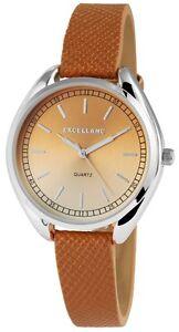 Damenuhr-Braun-Silber-Analog-Quarz-Metall-Leder-Armbanduhr-D-100000300471500