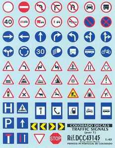 Details about Colorado Decals 1/43 TRAFFIC SIGNS AND ROAD SIGNS Part 1