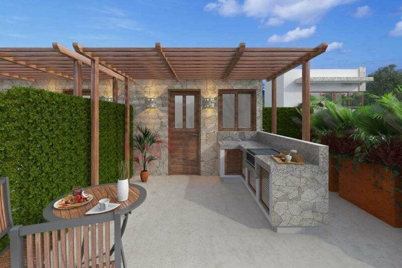 TownHome en Venta con su Patio y su Roof, en Tulum Country Club con Beach club - Mexico