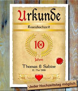 Details Zu Rosenhochzeit Ortsschild 10 Hochzeitstag Geschenkidee Dekoration Fete Geschenk