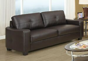 MODERN BROWN BONDED LEATHER SOFA LIVING ROOM FURNITURE | eBay