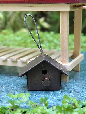 Miniature Dollhouse FAIRY GARDEN Accessories ~ Rusted Tin Birdhouse ~ NEW