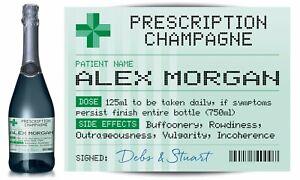 PERSONALISED-Prescription-Champagne-label-fun-spoof-Birthday-gift