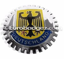 1 - NEW Chrome Grill Badge Germany Coat of Arms VARIANT DEUTSCHLAND MEDALLION