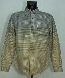 Ben-Sherman-Camisa-Manga-Larga-para-Hombre-Algodon-Talla-M-Excl
