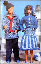 Vintage Knitting Pattern • MIDGE & KEN DOLLS CLOTHES • FISHERMAN OUTFITS SKIRT
