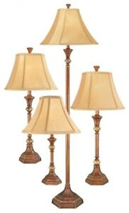 Home Lamp Set 4 Piece Table Accent Floor Light Living Room Decorative Lighting Ebay