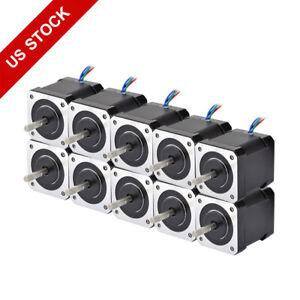 Nema-17-Stepper-Motor-59Ncm-84oz-in-2A-48mm-4-wire-w-1m-Cable-amp-Connector