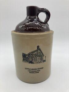 Vintage Amana Colonies Crock Wine Jug Village Winery Wine Jug Stoneware USA D4