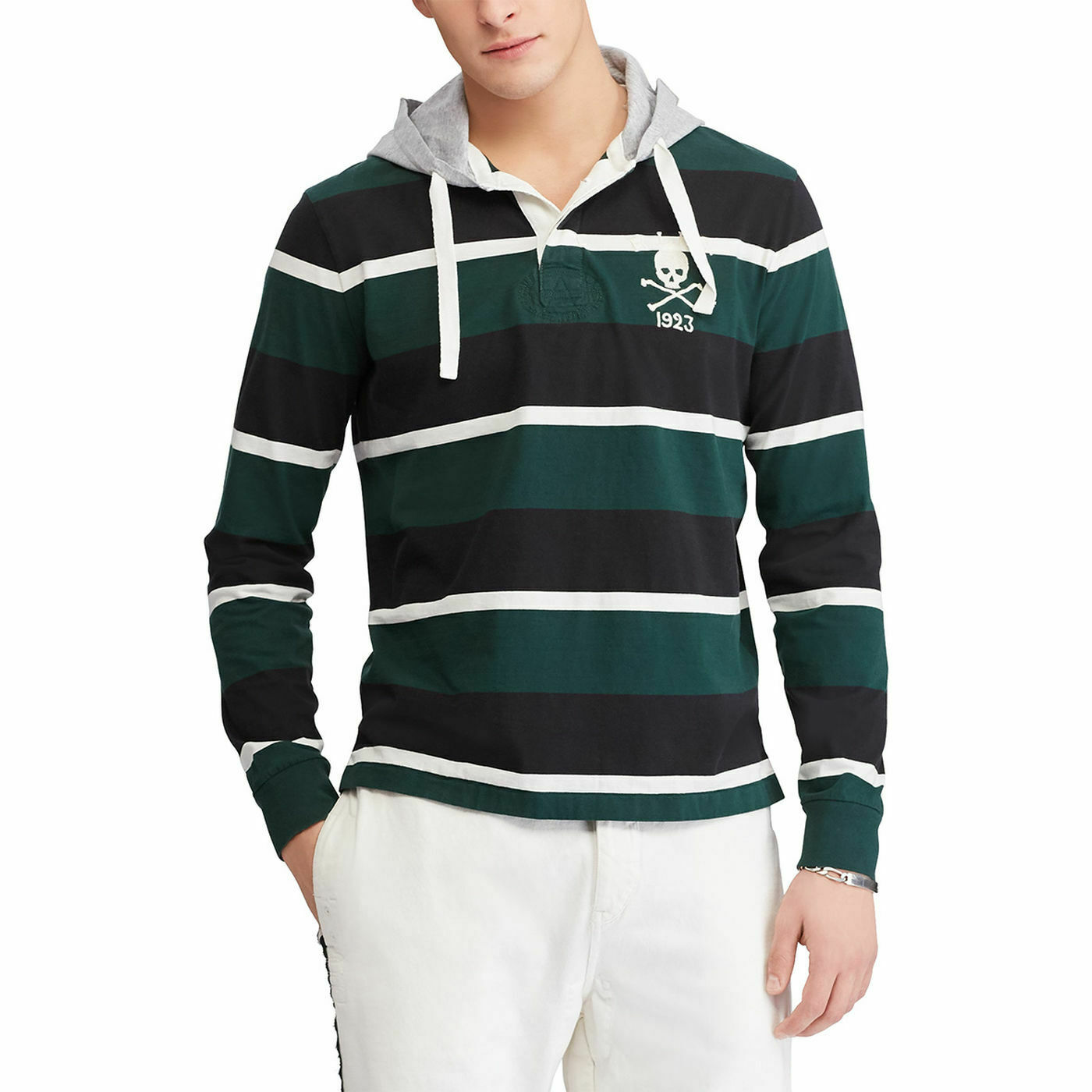 New Polo Ralph Lauren Cotton Hooded Rugby Top Hoodie Sweatshirt XL sweater jeans